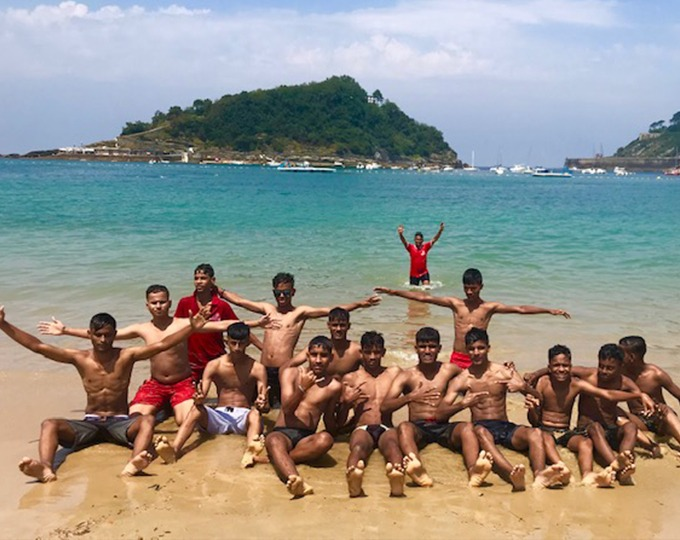 Flying from India to San Sebastian to play teams from around the world, sightsee in the historic town and swim in the sea, is a dream come true for the OSCAR team.