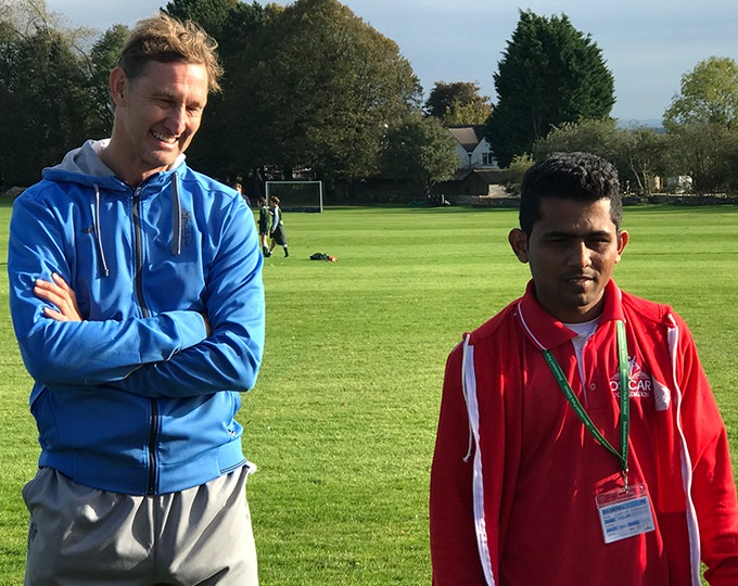 During his internship with Beaudesert Park School in the UK, OSCAR's Maruti Chauhan organised a fundraising football training day. What an honour to have football icon, ex England and Arsenal Captain, Tony Adams to work with.